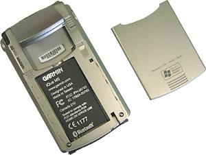 КПК с GPS приемником Garmin iQue M5 комплектуется съемным Li-Ion аккумулятором, 1250 mAh.